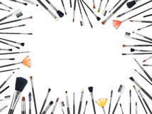 Many makeup brushes of different size Royalty Free Stock Photo