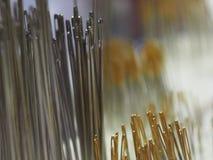 Many many needles and needles stock photos