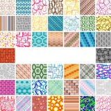Many-many Seamless Patterns Royalty Free Stock Photo