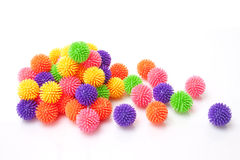 Many massage rubber ball Stock Image