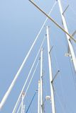 Many masts against the sky Stock Image