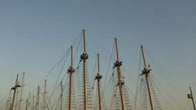 Many masts Royalty Free Stock Photo