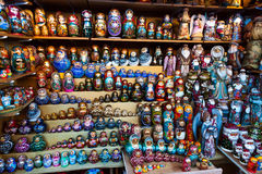 Many Matrioska dolls. Presented on several versions and sizes Stock Photo