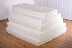 Many mattresses Stock Photo