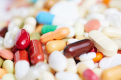 Many medication on a heap Royalty Free Stock Photography