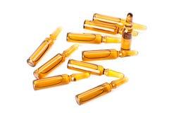 Many of medicine ampules. Isolated on white background Stock Photo