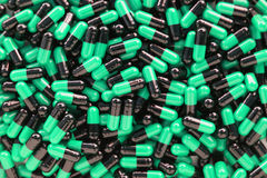 Many medicines pills capsules Stock Photos