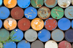 Many metal barrels. Stock Photography