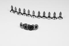 Many metal screws 1 Stock Photos