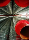 Many metallic tubing Stock Photography