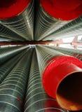 Many Metallic Tubing Stock Photography