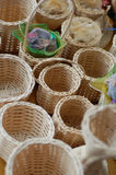 Many mini baskets Stock Images