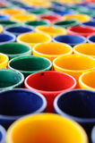 Many mini glass colored for web background. Stock Photo