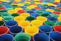 Many mini glass colored for web background. Stock Image