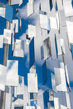 Many mirrors over blue sky with clouds background Royalty Free Stock Images