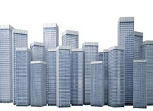 Many modern buildings Royalty Free Stock Images