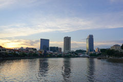 Many modern buildings in Singapore Stock Photography