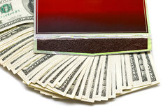 Many money in box Stock Photo