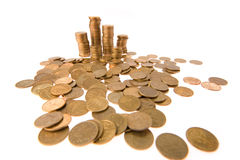 Many money coins Stock Images