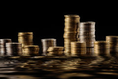 Many money coloumns Stock Images