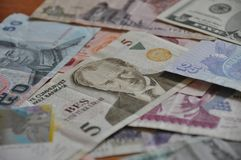 Many paper money Royalty Free Stock Images
