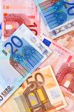 The many Money . Euro Royalty Free Stock Images