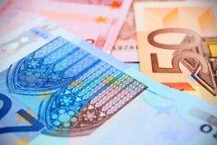 The many Money . Euro Royalty Free Stock Image