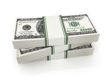 Many money on a white background. (done in 3d rendering Royalty Free Illustration