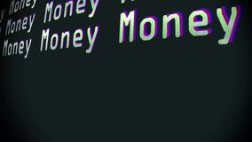 Many money word text typing writing spamming on old computer lcd led tube tv screen display background blinking. Word text typing writing on old computer lcd led stock video