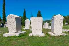 Many monumental medieval tombstones lie scattered in Herzegovina Royalty Free Stock Photos