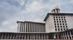 Istiqlal is the largest mosque in Southeast Asia. Among the many mosques, Istiqlal is the largest and most magnificent mosque in Southeast Asia defeating other stock photo