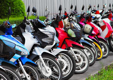 Many motobikes Royalty Free Stock Photo