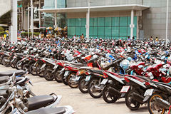 Many motorbikes Stock Image
