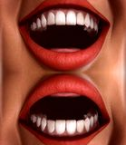 Many Mouths Seamless Tile Pattern Background 3 Stock Photo