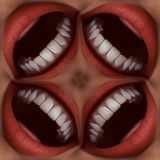 Many Mouths Seamless Tile Pattern Background 3 Stock Images