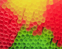 Many multi color tubules for cocktail Stock Photography