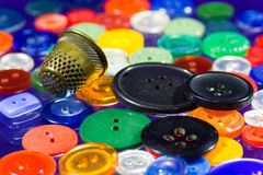 Many multi-colored buttons Stock Photography