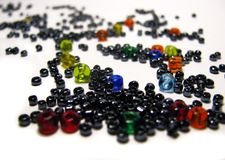 Many multi-colored glass beads Stock Photo