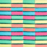Many multi-colored sponges for washing dishes. Washcloths. Multi-colored texture. stock images