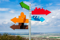 Many multicolor directions Royalty Free Stock Photos