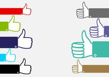 Many multicolor hands show like vector illustration