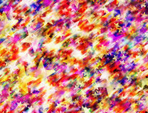 Many multicolored flying stars background Stock Photos