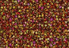 Many multicolored flying stars background Royalty Free Stock Photo