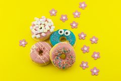 Multicolored Donuts Arrangement Royalty Free Stock Photo