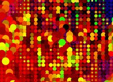 Many multicolored Round Disco style Shapes. Backgrounds Royalty Free Stock Photo