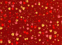 Many multicolored small hearts backgrounds Royalty Free Stock Images