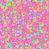 Many multicolored small hearts backgrounds Royalty Free Stock Photo