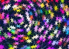 Many multicolored stars background Royalty Free Stock Images
