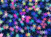 Many multicolored stars background Royalty Free Stock Photos