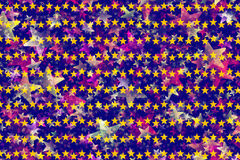 Many multicolored stars background Royalty Free Stock Photo
